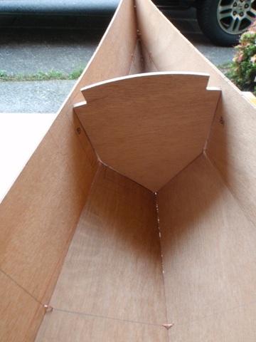 バウ側のバルクヘッド